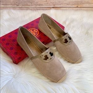 Tory Burch Fumo Suede Sidney Espadrille Flats